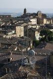 Vue de dessus de toit de Sienne. Image stock