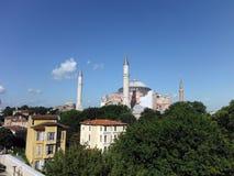 Vue de dessus de toit du Hagia Sophia Mosque Photographie stock libre de droits