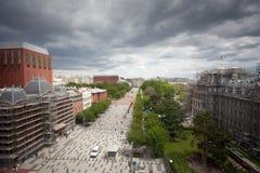 Vue de dessus de toit, Washington DC Photo stock