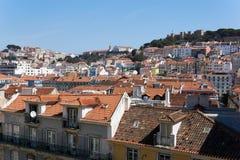 Vue de dessus de toit de Lisbonne image stock