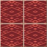 Vue de Diamond Check Geometry Cross Tracery de modèle de carreau de céramique illustration libre de droits