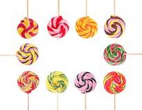 Vue de différentes sucreries douces avec l'espace pour la conception image libre de droits