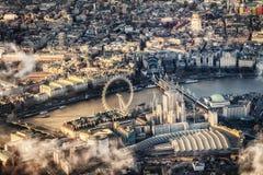 Vue de district central de Londres Photos libres de droits