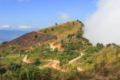 Vue de Doi Pha Tang, secteur de Wiang Kaen, Chiang Rai, Thaïlande Photo stock