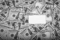 Vue de 100 dollars de billets de banque Photographie stock libre de droits