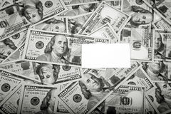 Vue de 100 dollars de billets de banque Images libres de droits