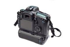 Vue de dos d'appareil-photo de Dslr Photographie stock
