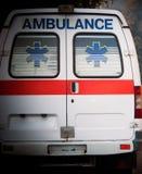 Vue de dos de voiture d'ambulance photographie stock libre de droits
