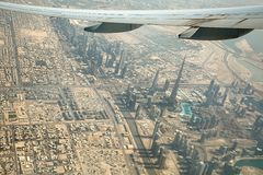 Vue de Dubaï d'air Images libres de droits