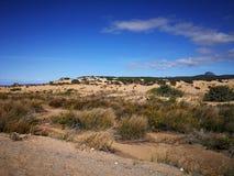 Vue de dune de Piscinas en Sardaigne, un désert naturel Photo stock
