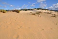 Vue de dune de Piscinas en Sardaigne, un désert naturel Photo libre de droits