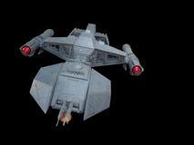 Vue de face 2 de vaisseau spatial Images libres de droits