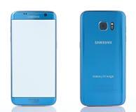 Vue de face arrière et du bord de la galaxie S7 de Samsung image libre de droits