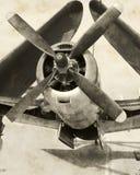 Vue de face d'avion classique Images stock