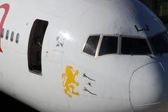 Vue de face d'un avion éthiopien Photos libres de droits
