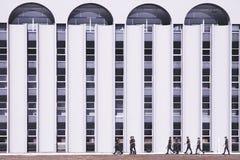 Vue de face d'un bureau de quart principal dans brasÃlia/df/Brazil images stock