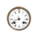 Vue de face d'un cadran d'horloge antique illustration stock