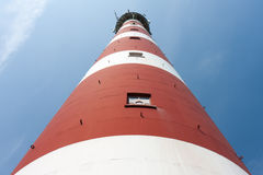 Vue de face d'un phare hollandais Photographie stock libre de droits