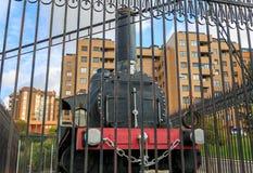 Vue de face d'un vieux train Photographie stock libre de droits