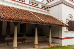 Vue de face d'une maison antique de Tamil Nadu de brahmin, Chennai, Inde, le 25 février 2017 Photographie stock