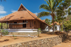 Vue de face d'une maison antique du Kerala, Kerala, Inde, le 25 février 2017 Photographie stock libre de droits