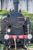 Vue de face d'une vieille locomotive à vapeur à Rijeka images stock