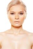 Vue de face de beauté sexy avec le renivellement de jour normal Photos stock