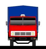 Vue de face de camion Illustration de Vecteur