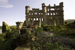 Vue de face de château de Bannerman Images libres de droits