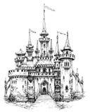 Vue de face de château de vecteur illustration libre de droits