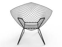 Vue de face de chaise de treillis métallique illustration de vecteur