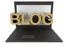 Vue de face de concept de blog illustration de vecteur