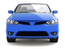 vue de face de contrat bleu de véhicule Image libre de droits