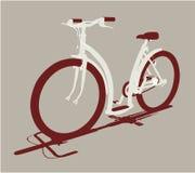 Vue de face de cycle de vecteur illustration stock