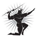 Vue de face de Dieu grec Zeus Image libre de droits