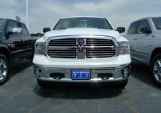 Vue de face de 2016 Dodge Ram Pickup photos stock