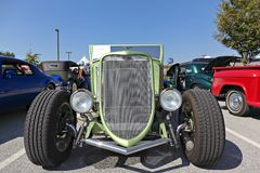 Vue de face 1933 de Ford Roadster Images libres de droits