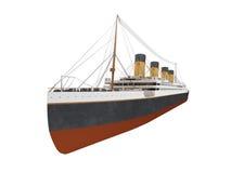Vue de face de grande doublure de bateau illustration de vecteur