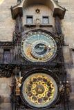 Vue de face de l'horloge astronomique Images libres de droits