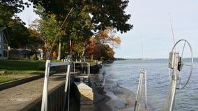 Vue de face de lac de notre cottage Images libres de droits