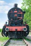 Vue de face de locomotive à vapeur démodée photographie stock