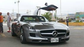 Vue de face de Mercedes Benz SLS AMG 6 3 Photographie stock libre de droits
