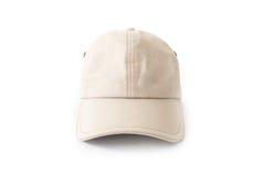 Vue de face de plan rapproché du chapeau blanc de chapeau sur le fond blanc, mode Photo stock