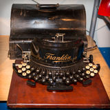 Vue de face de rétro machine à écrire de vintage Images stock