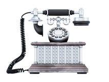 Vue de face de rétro téléphone illustration libre de droits