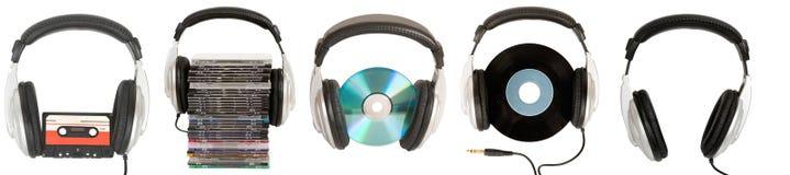 Vue de face des écouteurs du DJ Image libre de droits