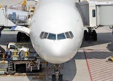 Vue de face des aéronefs de Boeing Photo libre de droits