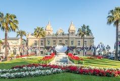 Vue de face du casino De Monte Carlo, Monaco Photographie stock libre de droits