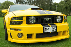 Vue de face du model 2005 de Ford Mustang Photographie stock libre de droits