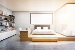 Vue de face du siège social dans la chambre à coucher, modifiée la tonalité Image stock